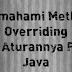 Memahami Method Overriding Dan Aturannya Pada Java