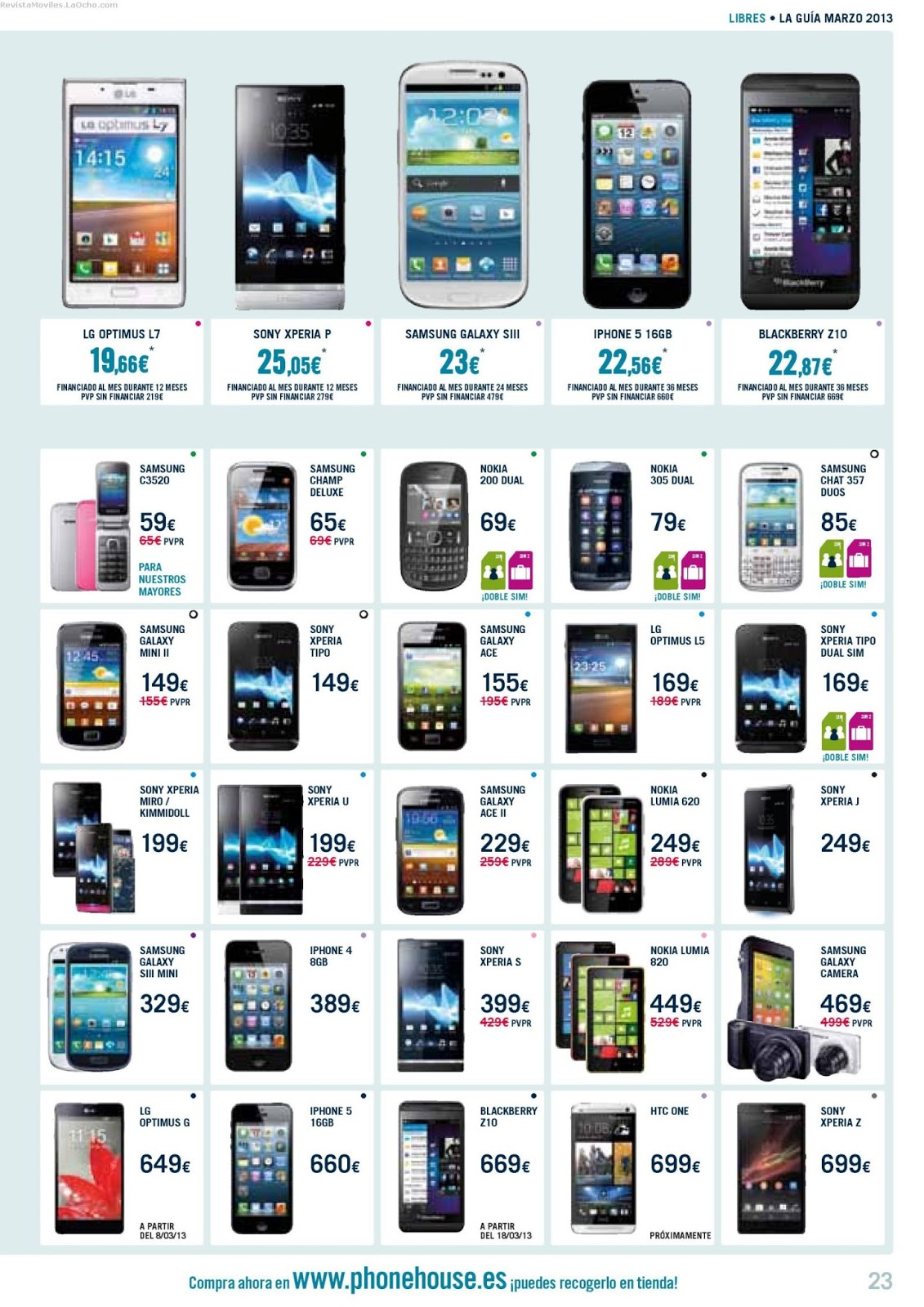 Ofertas Moviles Libres The Phone House Revista Móviles Catálogo Phonehouse Marzo 2013