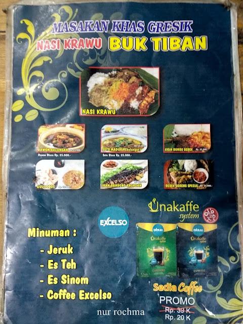daftar menu nasi krawu buk tiban II