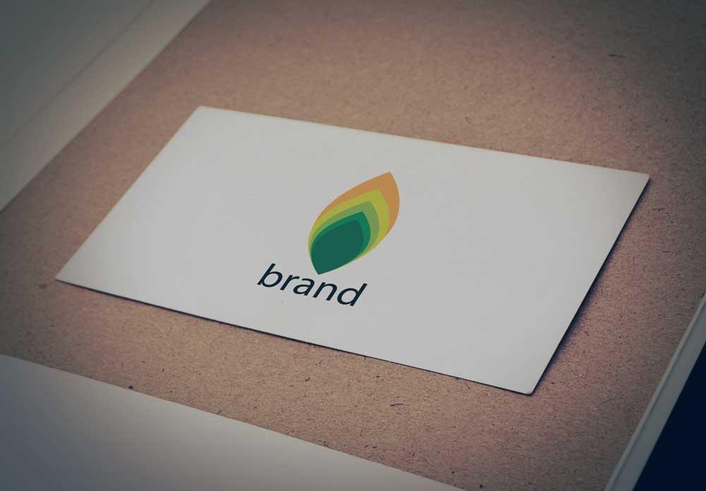Download Free Logo Green Leaf with Golden Gradient Color