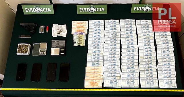 Osorno: detenido por porte y tenencia de drogas y armamento