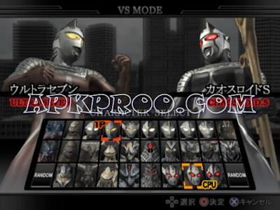 Download Ultraman Fighting Evolution 0 ISO/CSO PSP PPSSPP For Android Ukuran Kecil