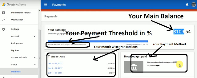 Payment page in detail