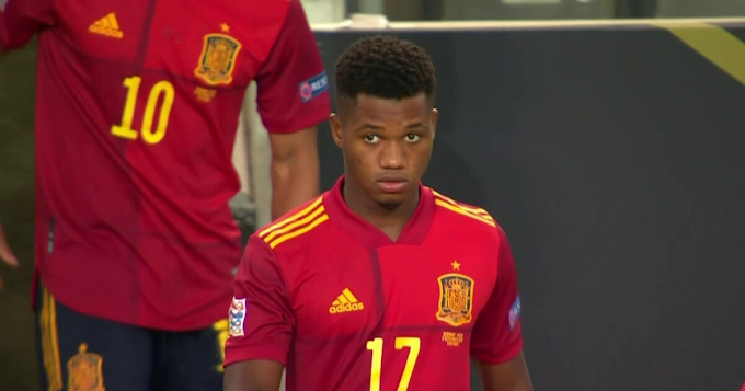 Barcelona kid Ansu Fati becomes Spain second-youngest player with 2 goals ruled out