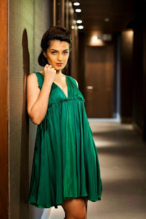 Shiny Doshi In Green Nighty