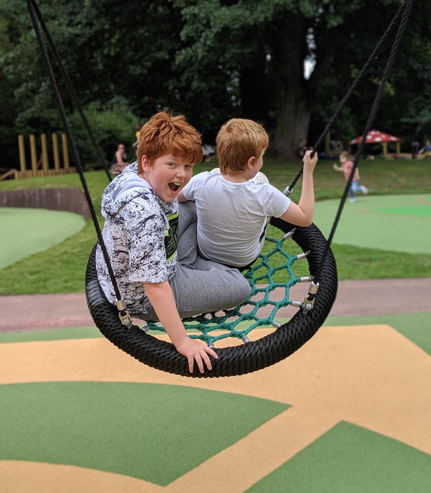 Harestanes Park, Jedburgh  - swings