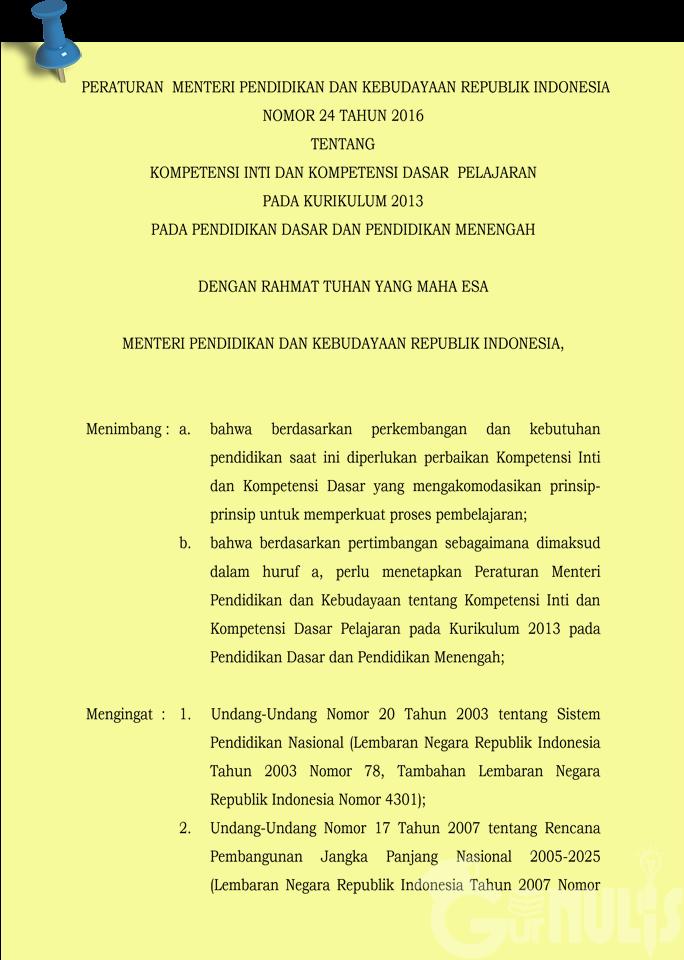 Memahami Kompetensi Inti Kurikulum 2013 Sekolah Dasar, www.gurnulis.id