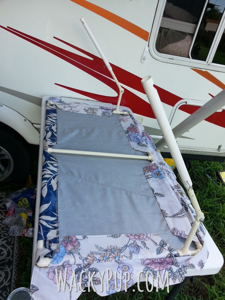Wacky Pup How To Make Easy Diy Pvc Awnings For Your
