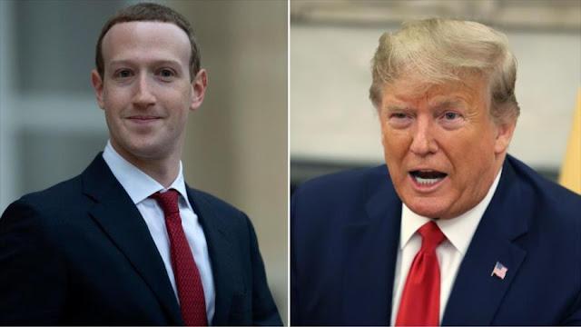Facebook eliminará vídeos de Trump en que pide votar dos veces