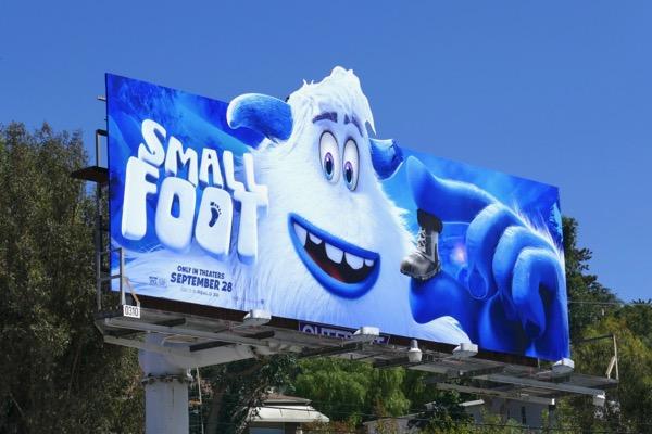 Smallfoot film billboard