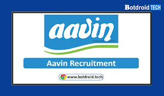 AAVIN Recruitment 2021, Apply Online for Latest Aavin Job Vacancies in Tamil Nadu