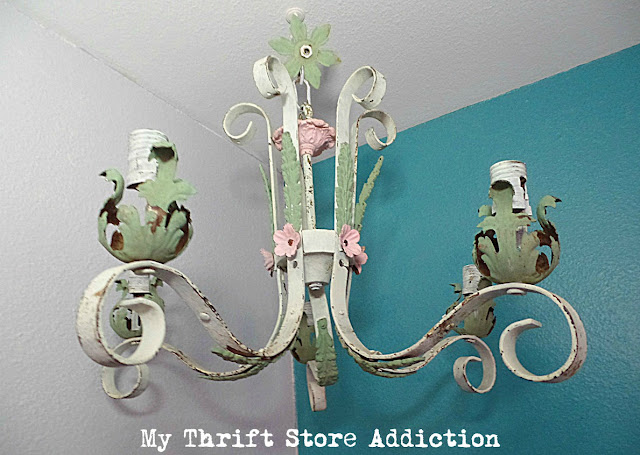 shabby chic chandy upcycle