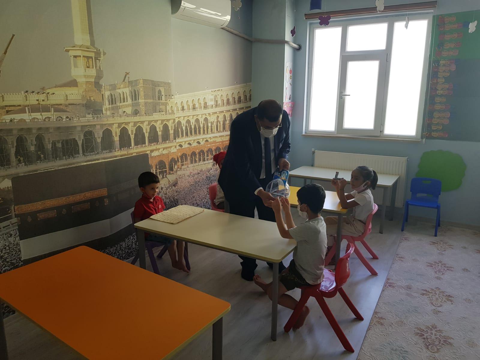Çınar ilçe müftü vekilinden 4-6 Yaş Kur'an kurslarına ziyaret