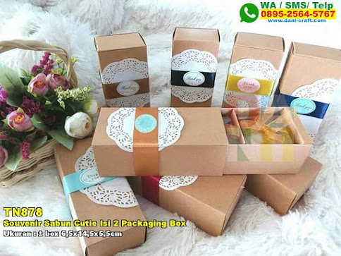 Souvenir Sabun Cutie Isi 2 Packaging Box