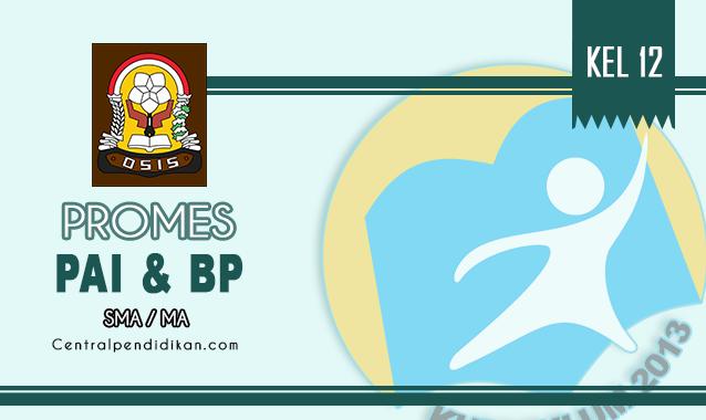 Promes PAI dan BP Kelas XII SMA Edisi Revisi Tahun 2021/2022