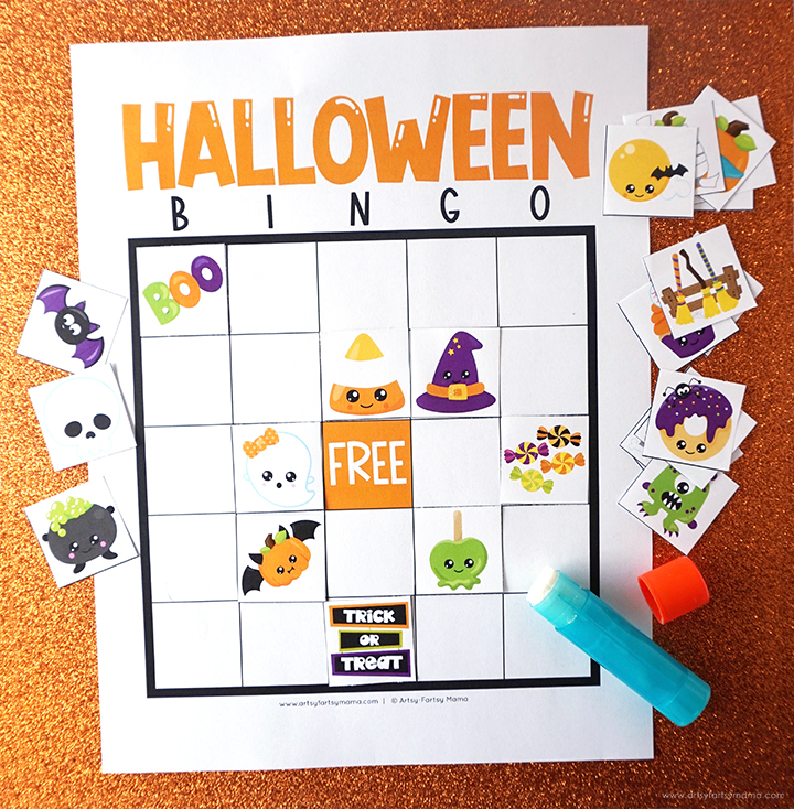 Free Printable Halloween Bingo Blank Set
