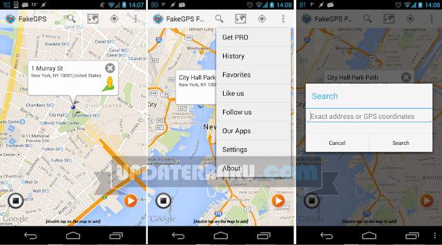 Fake GPS Location Spoofer PRO Apk Versi 4.7 Terbaru Untuk Bermain Pokemon GO Tanpa ROOT