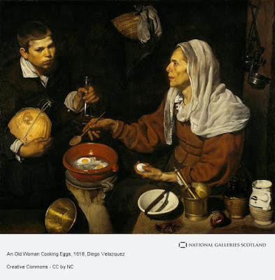 Diego Velazquez - An old woman cooking eggs,1618.