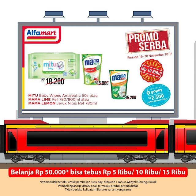 #Alfamart - #Promo Belanja Min 50K Bisa Tebus Murah Serba 10K (s.d 30 Nov 2019)
