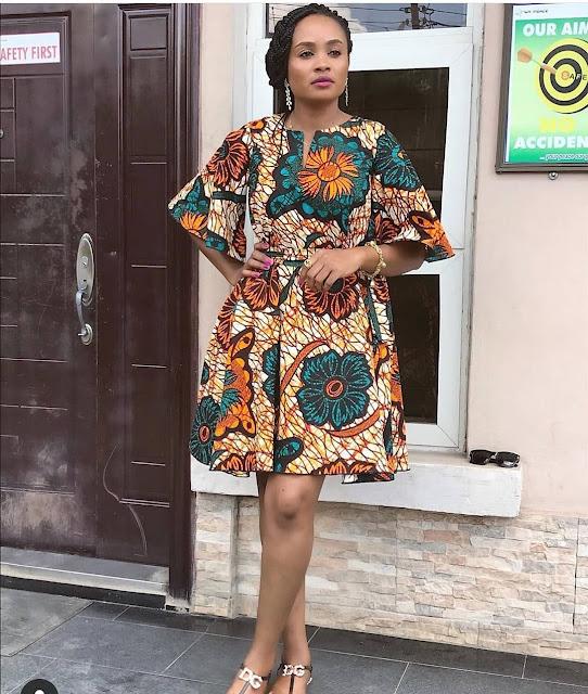 2019 African Fashion: Latest Beautiful Ankara Short Gown Styles
