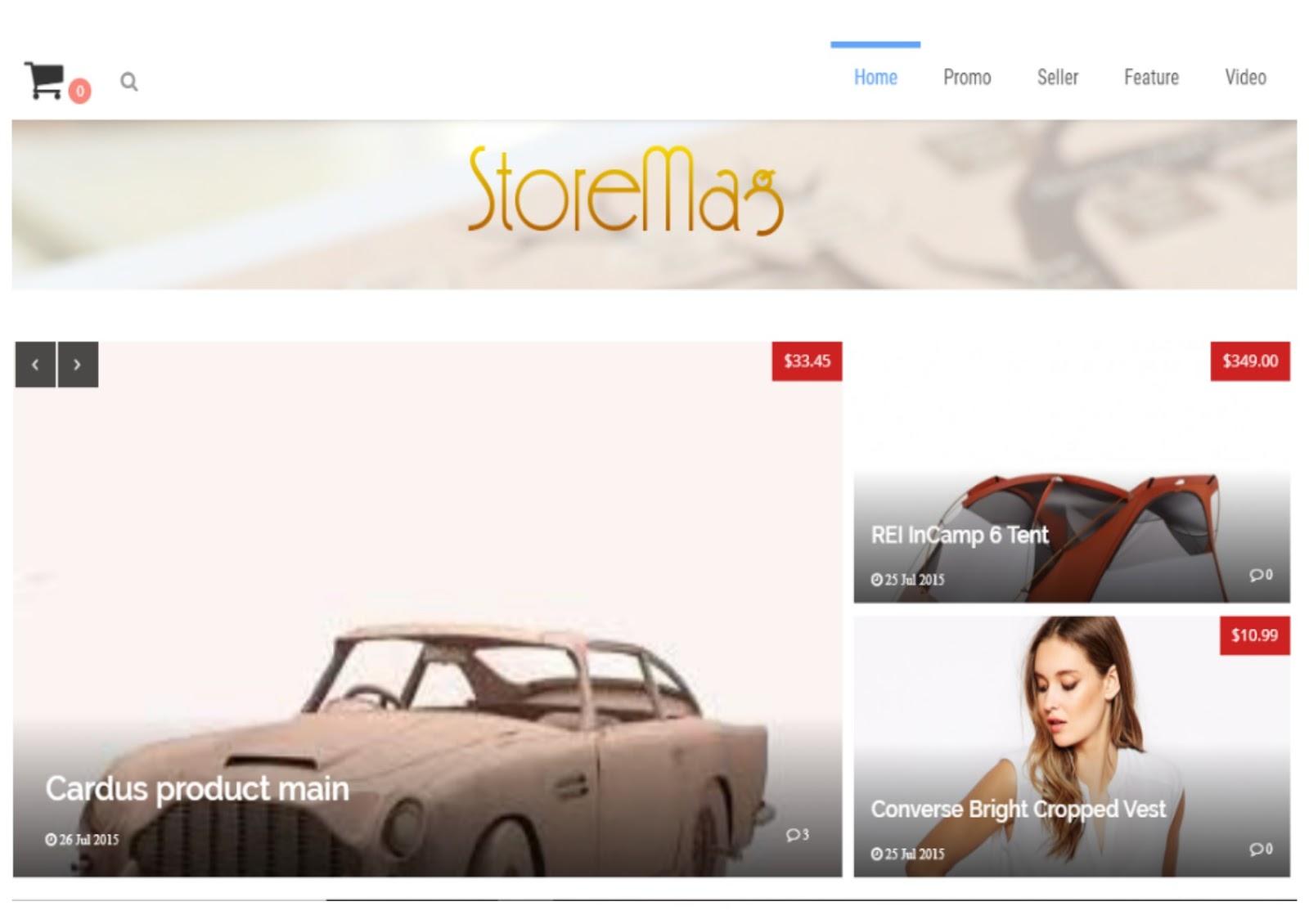 Store Mag E-Commerce Blogger Template