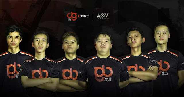 DG Esports is an AOV export team owned by Telkomsel World Games, one of which is under the AOV division. The AOV Division of DG Esports has five main members consisting of DG Ayep, DG Backdoor, DG Meloo, DG Skrull and DG Mammon.