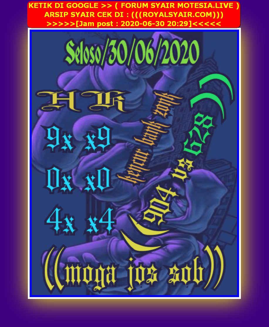 Kode syair Hongkong Selasa 30 Juni 2020 19