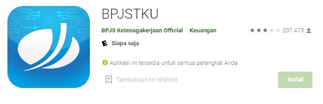 Cara yang pertama bisa dengan Menggunakan Aplikasi BPJSTKU.