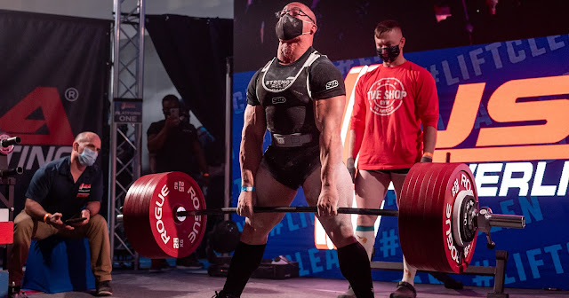 Ashton Rouska lifting large weights.