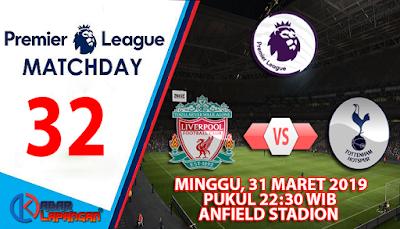 Prediksi Bola Liverpool vs Tottenham Hotspur 31 Maret 2019