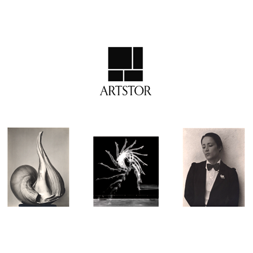 Montage of images from Artstor collection and Artstor logo.