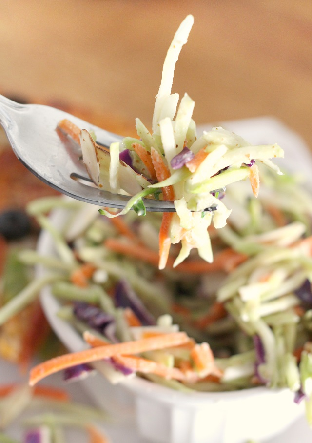 Honey Mustard Vinaigrette Broccoli Slaw Recipe