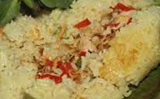 Resep praktis (mudah) nasi bakar ayam spesial (istimewa) enak, gurih, sedap, nikmat lezat