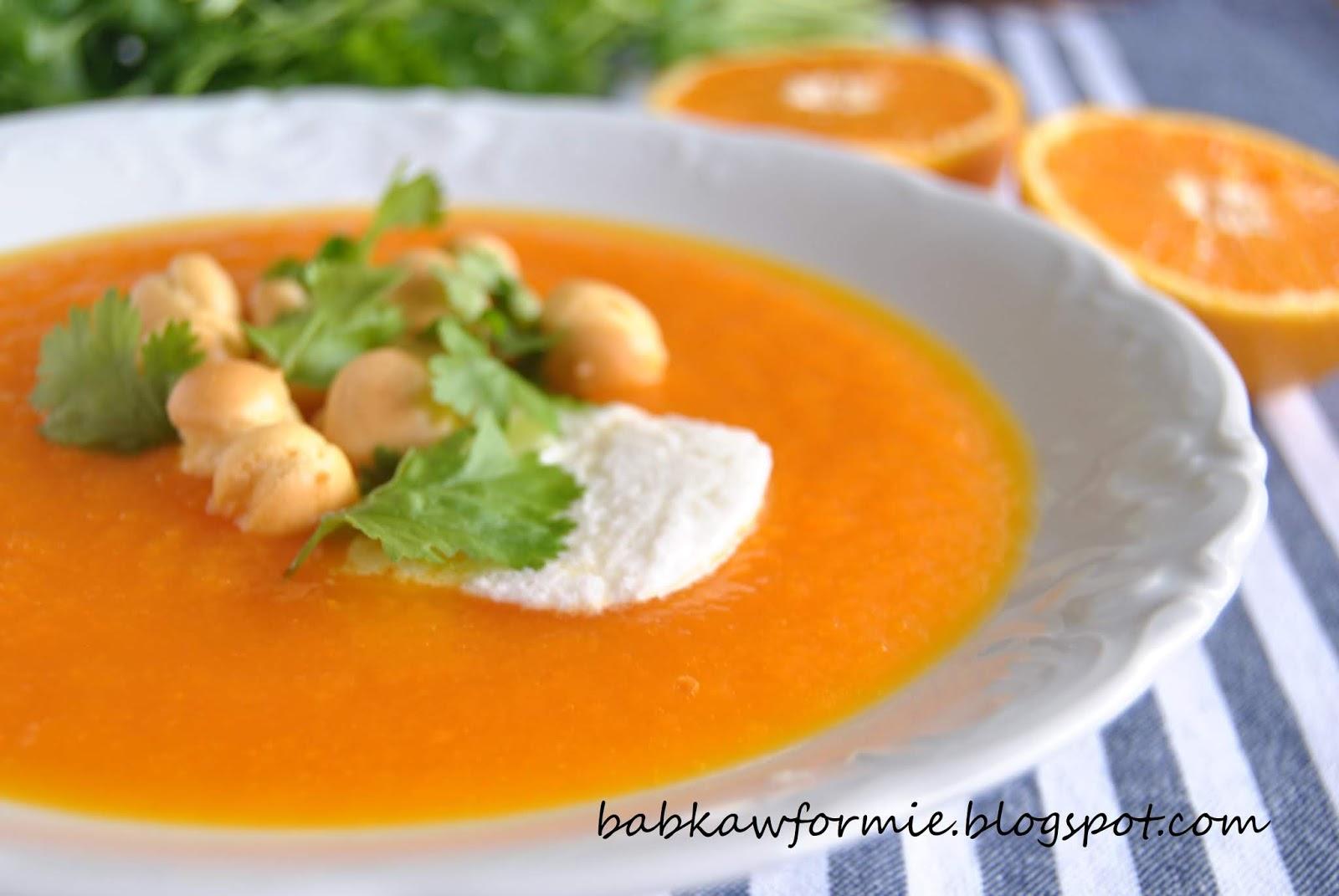 zupa krem z marchwi i pomarańczy babkawformie.blogspot.com