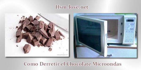 derretir chocolate en micro