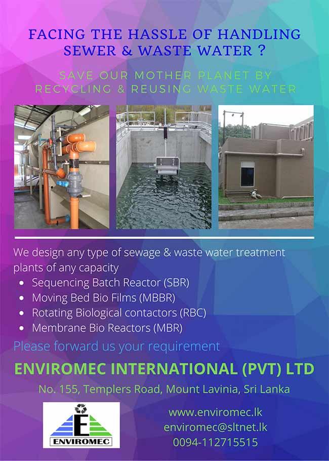 Sewage & waste water handling by Enviromec International.