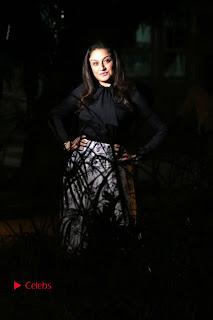 Actress Sonia Agarwal Stills in Black Top at Yevanavan Tamil Movie Audio Launch Event  0011.jpg