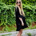 BLACKOUT : HALF SLEEVE MINI DRESS