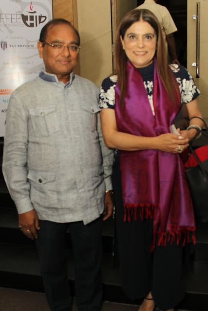 Entrepreneur Mukesh Gupta with Designer Reynu Taandon