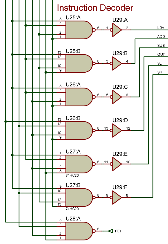 1 way circuit diagram discrete digital logic circuits: modifying the sap-1 ... sap 1 circuit diagram