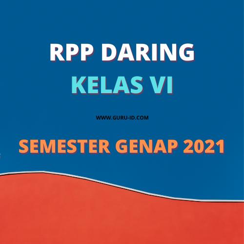 gambar RPP daring kelas 6 Semester 2