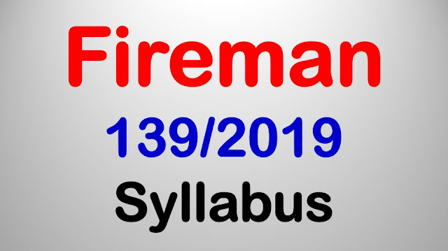 Fireman 139/2019 Syllubas
