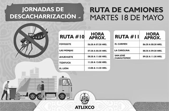 Inicia comuna de Atlixco Jornada de Descacharrización para prevenir el dengue