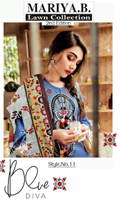 Mariya B Lawn 2nd Edition Pakistani Dress Material