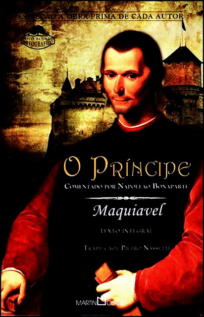 A foto mostra a capa do Livro o Príncipe de Maquiavel.