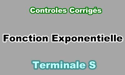 Controles Corrigés de Fonction Exponentielle Terminale S PDF