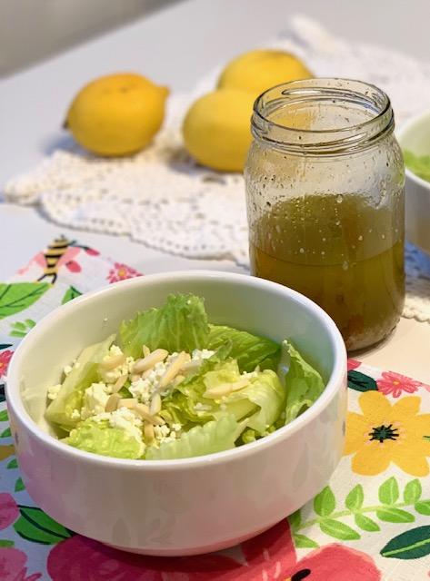 Green Salad with Pine Nuts and Lemon and Lemongrass Vinaigrette