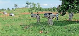 घाघरला में अवैध वन कटाई का निरीक्षण करने पहूचे आरक्षक पर किया हमले का प्रयास
