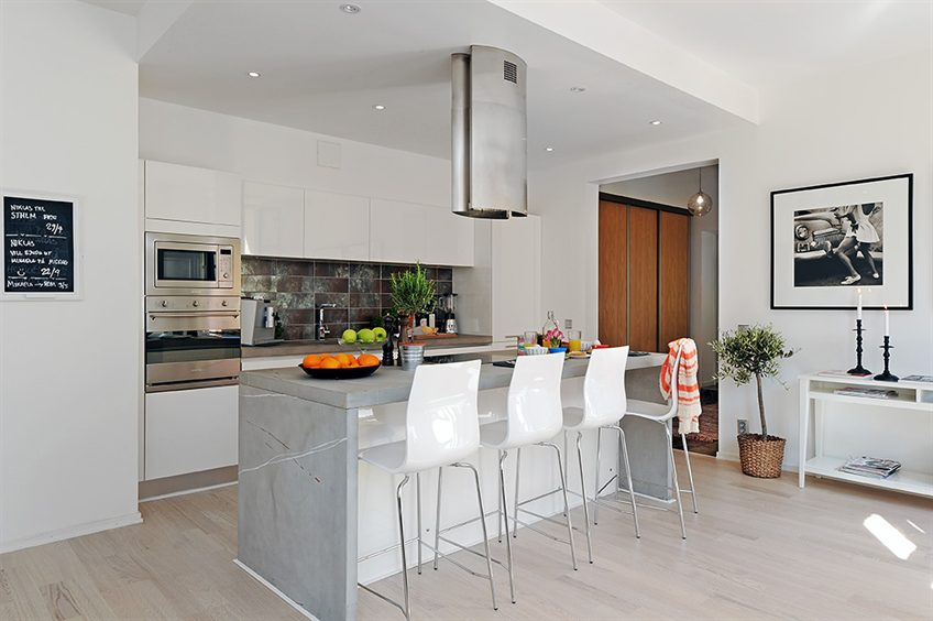 Kitchen Bar Table Apartment Ideas With Adjacent Dining Area