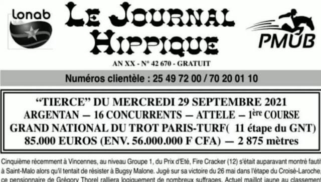 programme quinté Pronostic Mercredi 29/09/2021